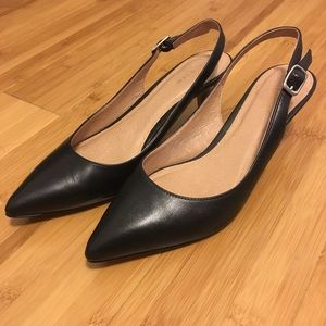 Halogen slingback shoes